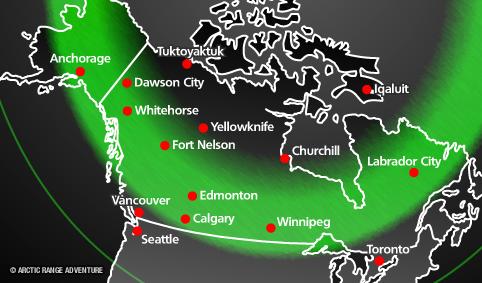 Current Aurora Borealis Forecast for April 18, 2014