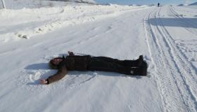 """Snow Angel On Demspter Highway"" (Jane James)"