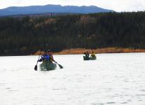 Paddling on the Yukon River