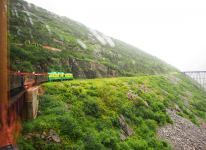 Train in in the coastal mountains