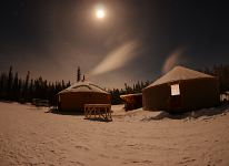 The Yurts under the Full Moon