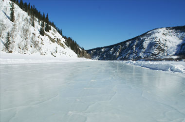 "1st prize winner 2012: ""Yukon River Ice Road"""